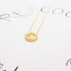 Simple Circle Disc Compass Necklace in Gold - RecocoNYC - 5