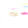 Simple Gold Infinity Love script Letter Thin Band Ring - RecocoNYC - 3