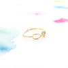 Simple Gold Infinity Love script Letter Thin Band Ring - RecocoNYC - 2
