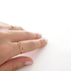 Simple Gold Infinity Love script Letter Thin Band Ring - RecocoNYC - 4
