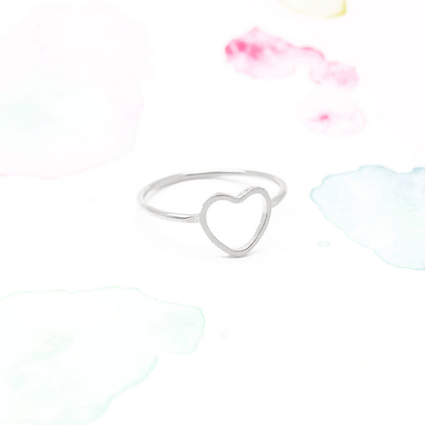 Delicate Love Infinity Heart Ring in Silver - RecocoNYC - 1