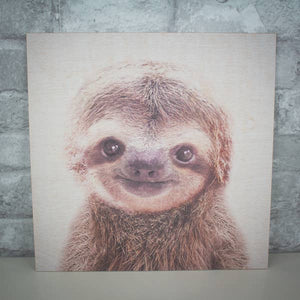 Animal Wood Prints - Sloth