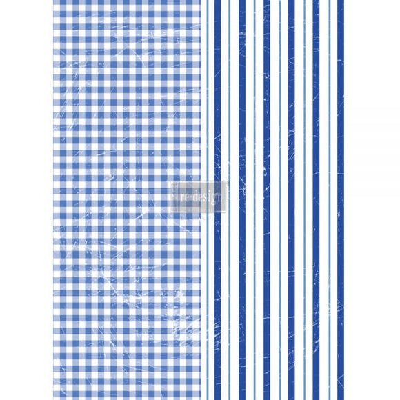 GINGHAM & STRIPES 22″X30″- REDESIGN DÉCOR TRANSFERS®