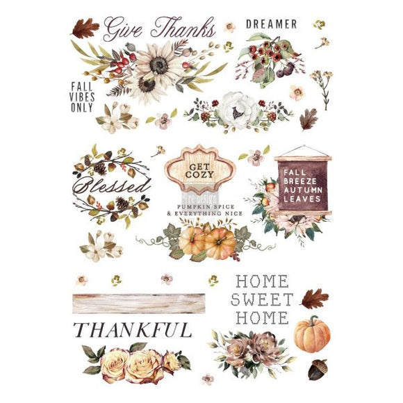 THANKFUL AUTUMN SIZE 24″X 34″ - REDESIGN DÉCOR TRANSFERS®