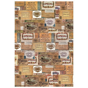 VINTAGE CIGAR BOX DESIGN SIZE 22″ X 32″ - REDESIGN DÉCOR TRANSFERS®