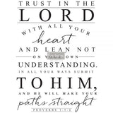 TRUST IN THE LORD – 3 SHEETS, DESIGN SIZE 24x32- REDESIGN DÉCOR TRANSFERS®