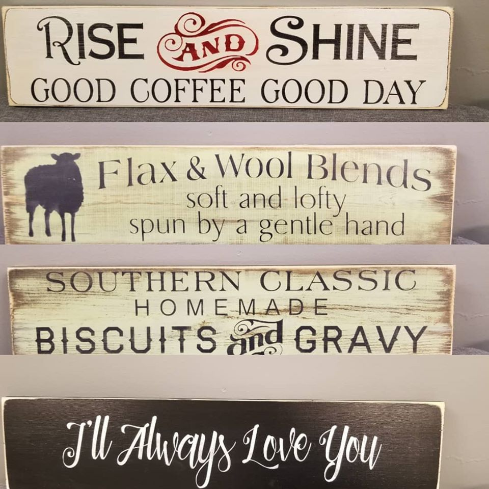 Everyday Saying Hand Painted Sign Making Class 12/1