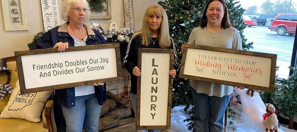 Farmhouse Framed Sign Making workshop February 22th