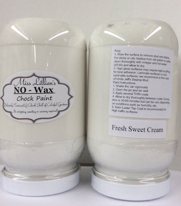Fresh Sweet Cream - Miss Lillian's NO WAX Chock Paint