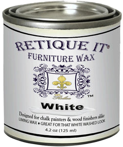 Retique It - 4 OZ Metallic Furniture Wax - White, Gold or Silver