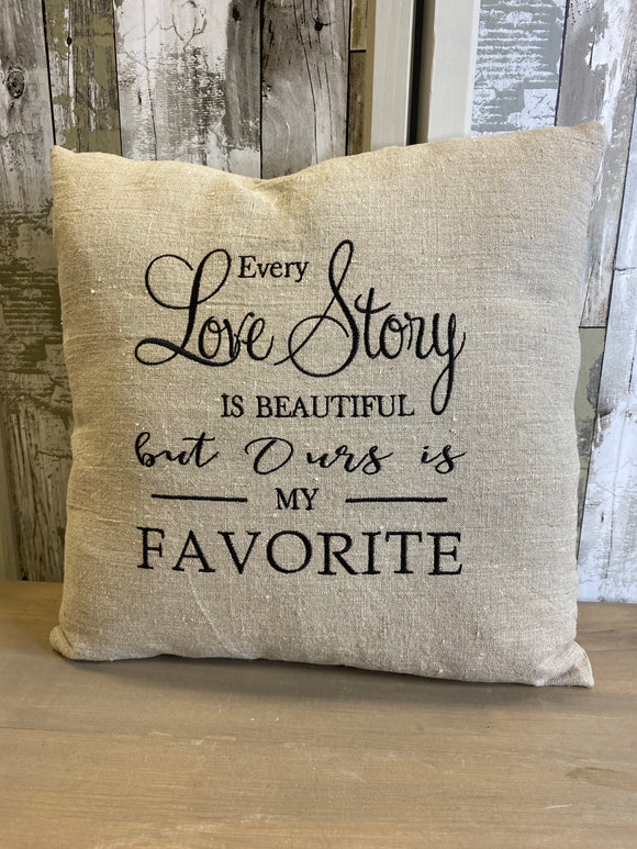 Every Love Story Is Beautiful Throw Pillow
