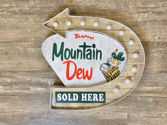 Mountain Dew Metal Sign