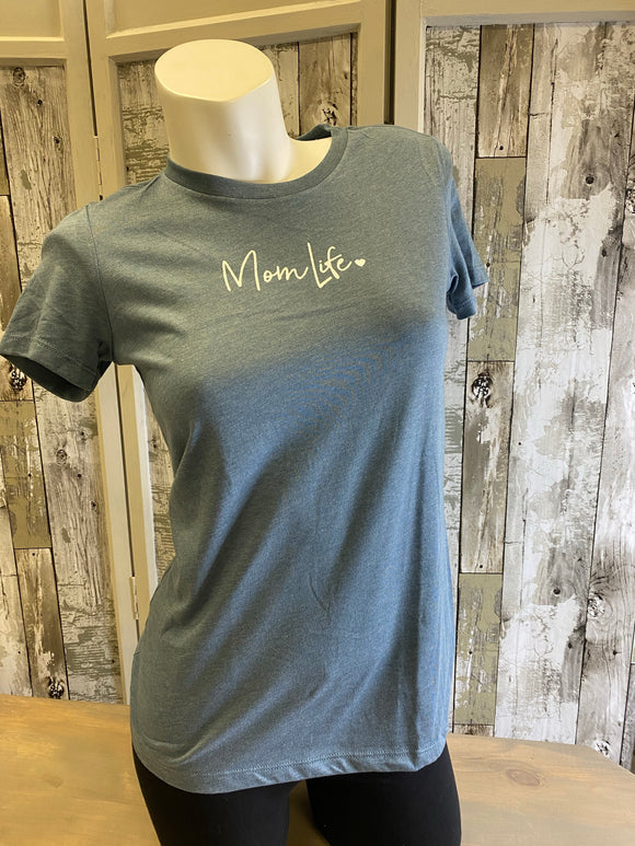 Mom Life ♥ Woman's Fitted Tee Shirt