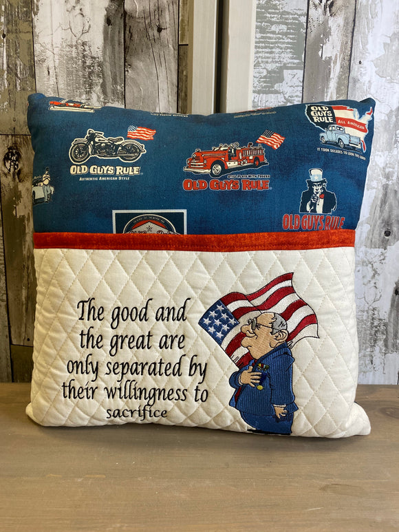 The Good And The Great  Reading Embroidered Throw Pillow