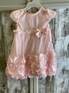 Nannette Pink Onesie With Flower Bottom