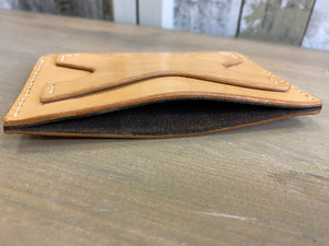 X pattern Handmade Leather Wallet