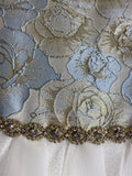 Couture Princess Dress Blue, Gold and White
