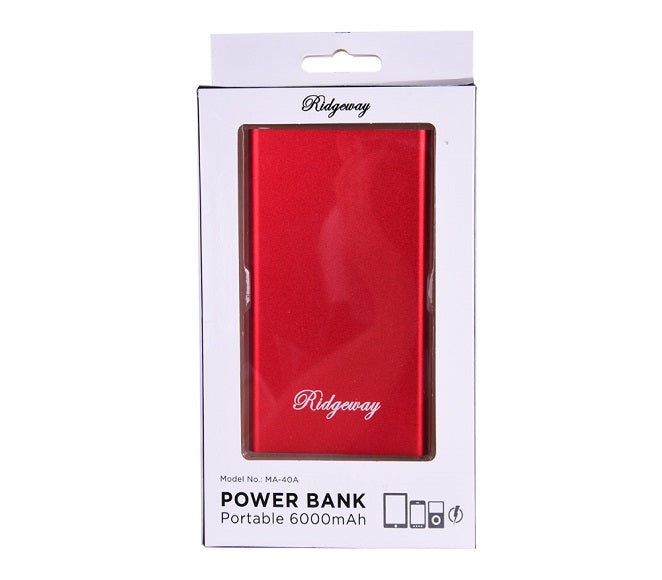 POWER BANK RIDGEWAY 6000MAH RED