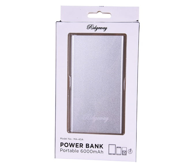 POWER BANK RIDGEWAY 6000MAH SILVER
