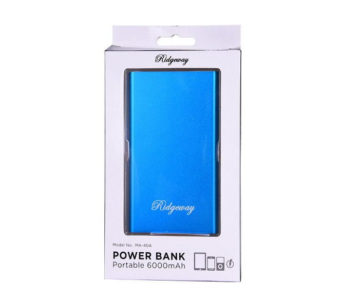 POWER BANK RIDGEWAY 6000MAH BLUE