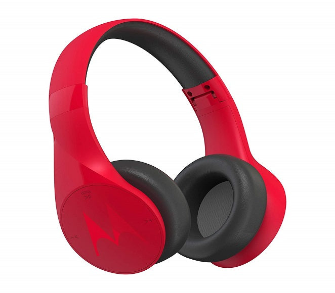 BLUETOOTH STEREO HEADPHONES ORIGINAL MOTOROLA PULSE ESCAPE RED