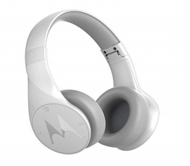 BLUETOOTH STEREO HEADPHONES ORIGINAL MOTOROLA PULSE ESCAPE WHITE