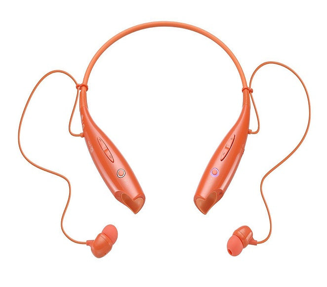 BLUETOOTH WIRELESS STEREO HEADPHONES ORIGINAL LG TONE ORANGE