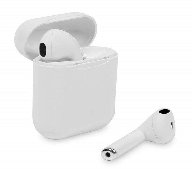BLUETOOTH EARPHONES WIRELESS WITH CHARGING CASE TWS I11 WHITE