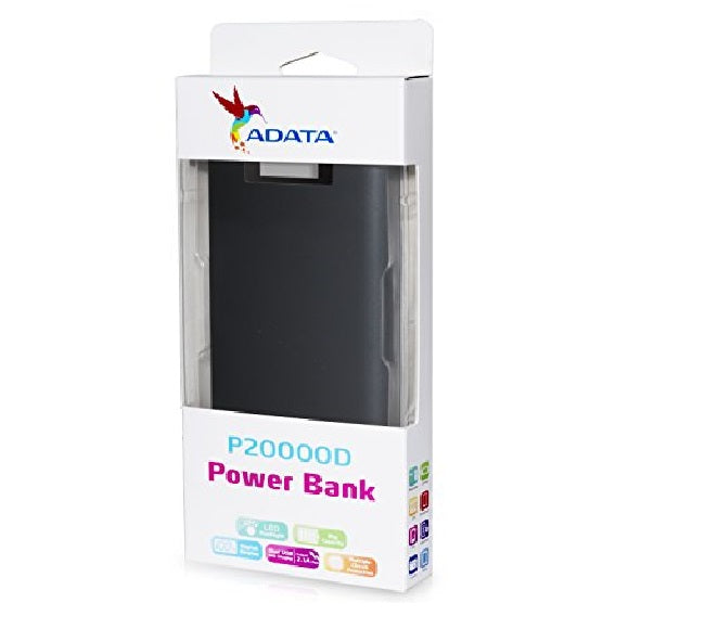 POWER BANK ADATA P20000D BLACK