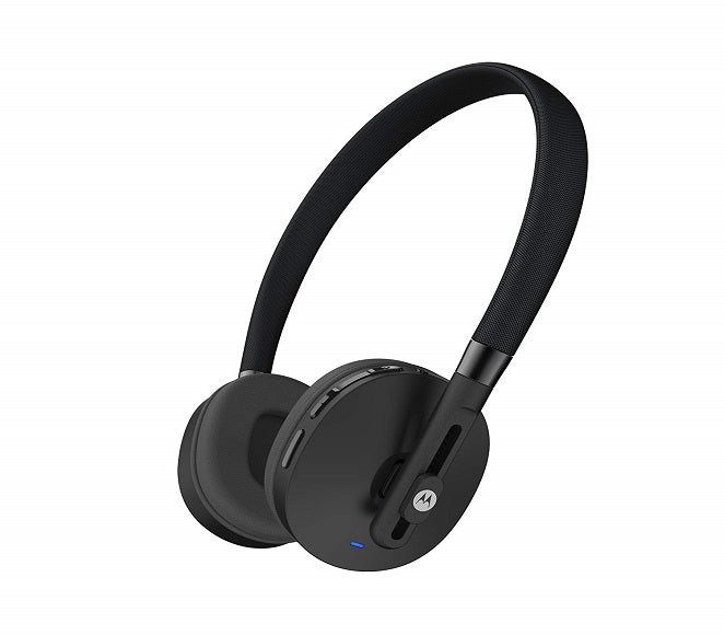 WIRELESS ON EAR HEADPHONES ORIGINAL MOTOROLA PULSE BLACK 89820N