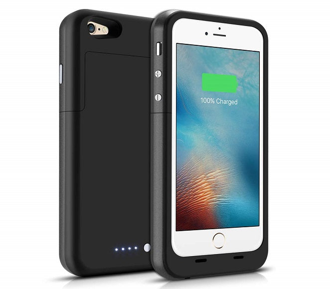 EXTERNAL POWER CASE IPHONE 6/6S/7 3200 MAH BLACK