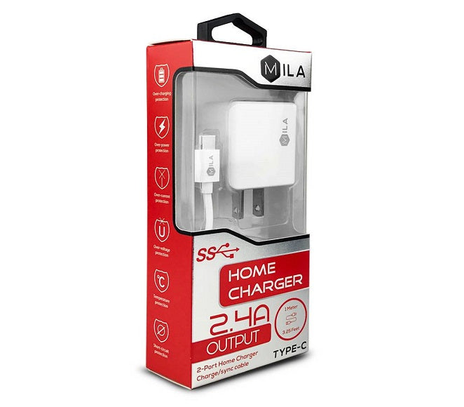 HOME ADAPTER COMBO TYPE-C ML-203 MILA WHITE