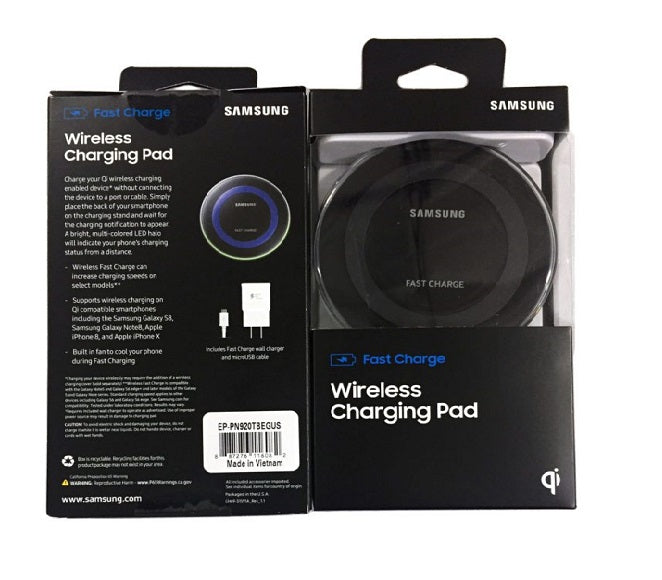 WIRELESS CHARGER SAMSUNG EP-PN920TBEGUS BLACK