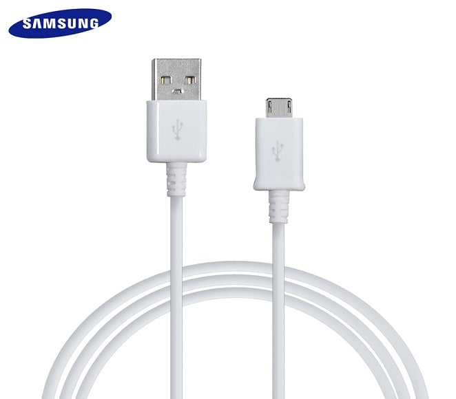 CABLE ANDROID MICRO USB 3FT PLASTIC WHITE ORIGINAL