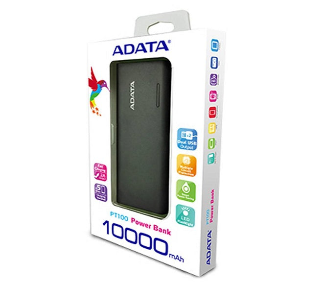 POWER BANK ADATA 10000MAH BLACK