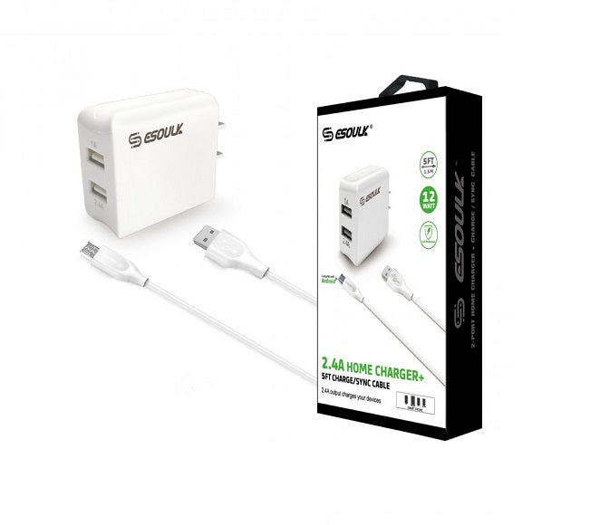 HOME ADAPTER COMBO IOS 5FT ESOULK WHITE