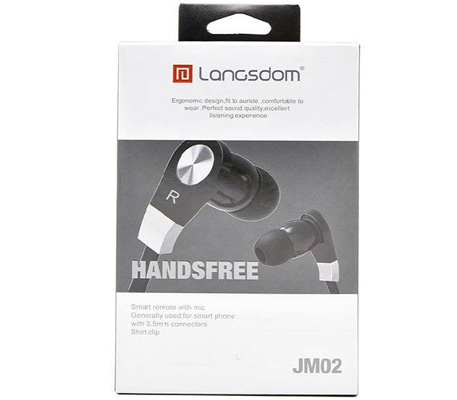 HEADSET SUPER BASS JM02 BLACK LANGSDOM