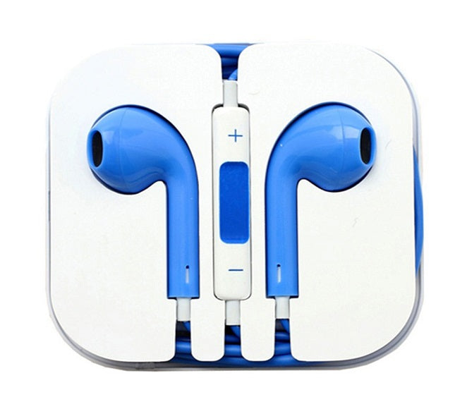 HEADSET EARPHONES HEADPHONES APPLE IPHONE 4/5/6 BLUE