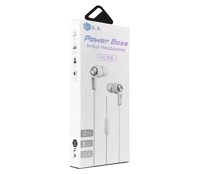 HEADSET POWER BASS ML510 WHITE MILA