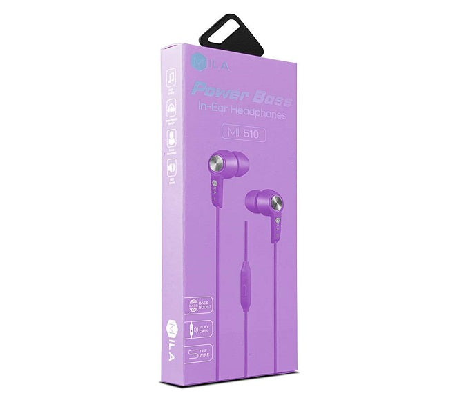 HEADSET POWER BASS ML510 PURPLE MILA
