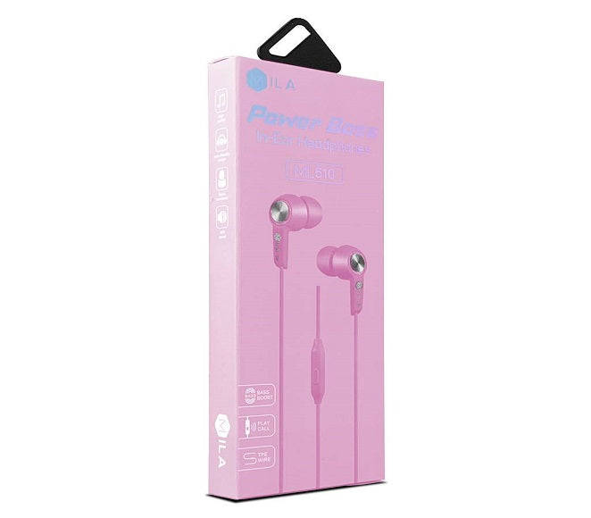 HEADSET POWER BASS ML510 PINK MILA