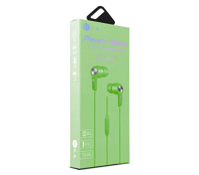 HEADSET POWER BASS ML510 GREEN MILA
