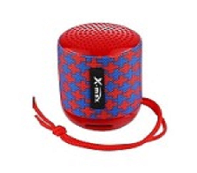 SPEAKER BLUETOOTH X-118 X-MAX (RED/BLUE CROSS)
