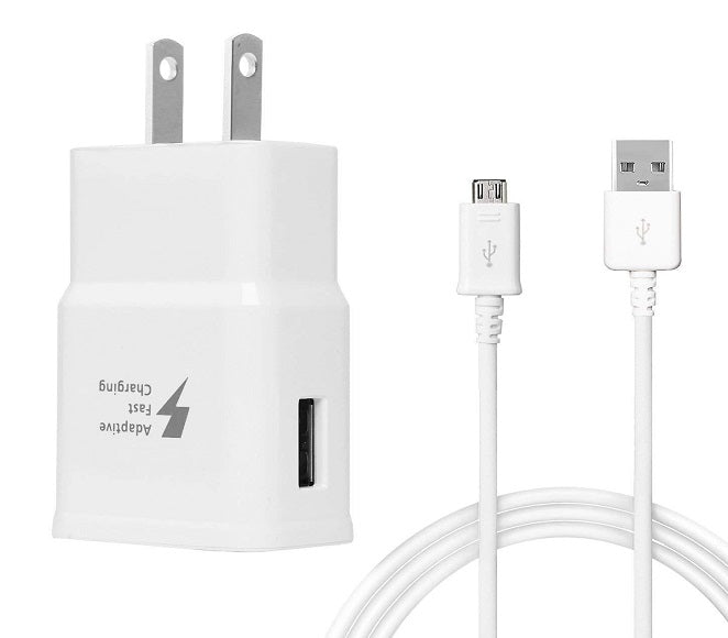 HOME ADAPTER COMBO MICRO USB ORIGINAL SAMSUNG WHITE