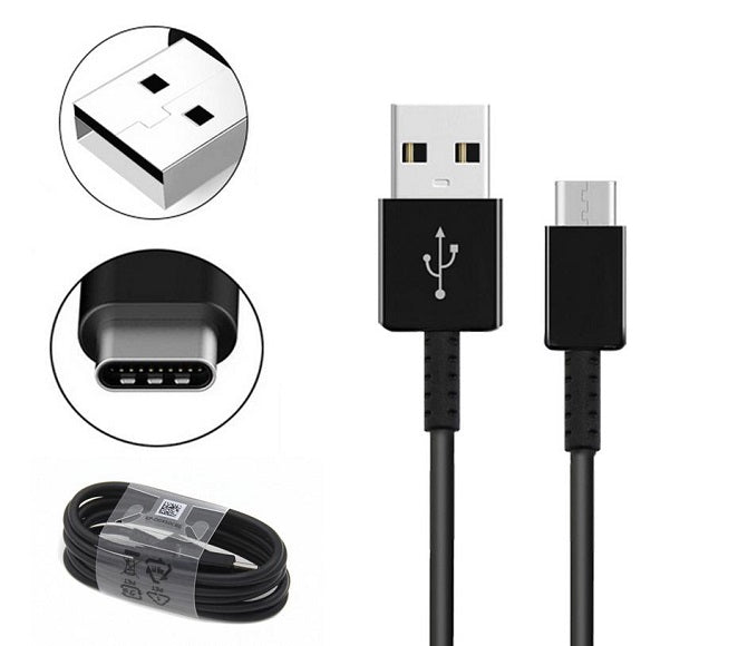 CABLE ANDROID TYPE-C 3FT PLASTIC BLACK ORIGINAL