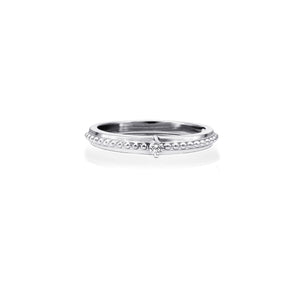 Diamond Engagement Ring  0.04ct  10k White Gold