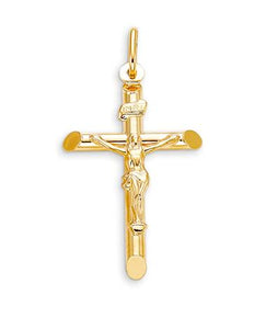Crucifix Pendant 10k Yellow Gold