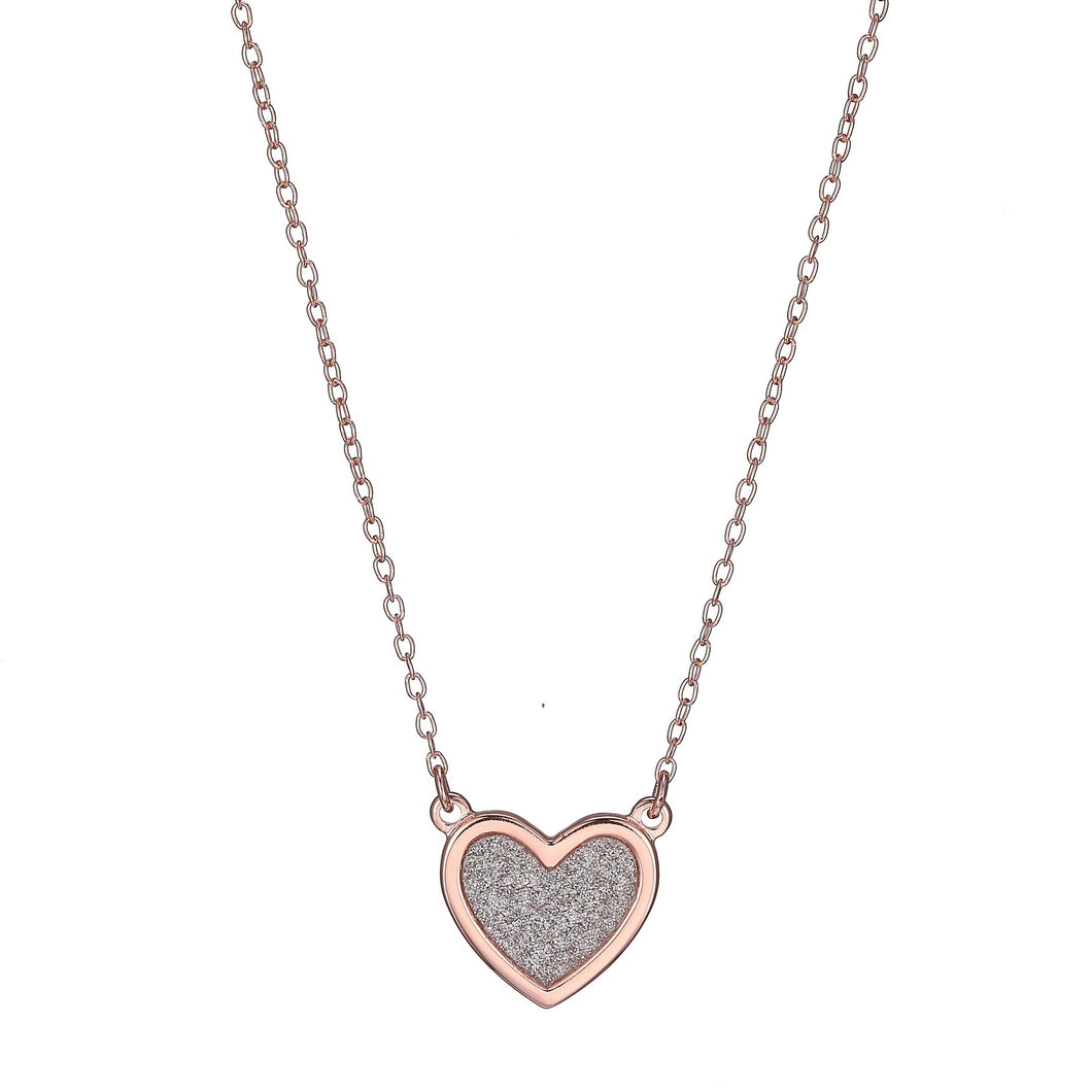 Pave Style Heart Necklace