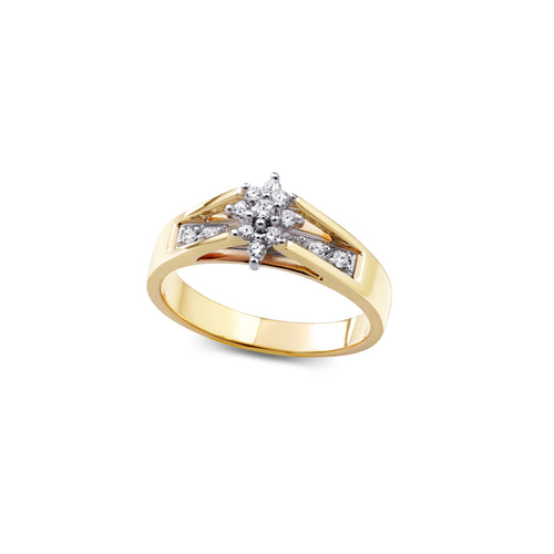6.25-Diamond Engagement Ring 0.18cttw 10k Yellow Gold