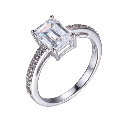 Emerald Cut Travel Ring